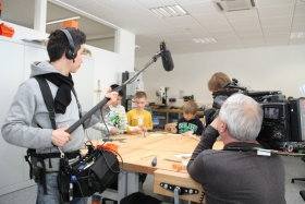 Besuche in der wiwe, Dreharbeiten des Bayerischen Rundfunks in der wiwe
