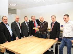 Besuche in der wiwe, Der Oberösterreichische Landespräsident Friedrich Bernhofer besucht die wiwe.