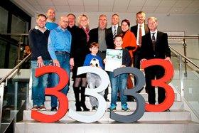wiwe Jubiläen, Im November 2013 war Jakob Kitzing (vorne rechts) der 3.333. Besucher der Passauer wissenswerkstatt