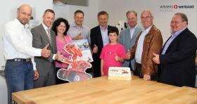 wiwe Jubiläen, Mitte Mai 2013 wurde der 1000. junge Tüftler in der wissenswerkstatt empfangen.